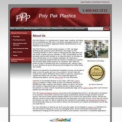 Manufacturer Of Custom Plastic Bags, Polyethylene Bags Poly Pak Plastics