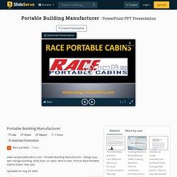 Portable Building Manufacturer