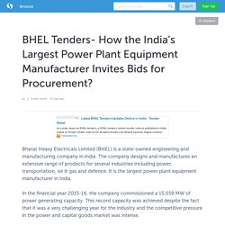 How the India's Largest Power Plant Equipment Manufacturer Invites Bids for Procurement?