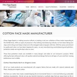 Reusable Cotton Face Mask Manufacturer