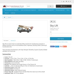 Sky Lift manufacturer & suppliers in India