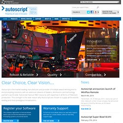 Autoscript, Leading Manufacturer & Distributor of Autocue, Prompteur, Prompters, Prompting Equiptment & Accessories