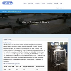 Leading manufacturer and supplier of water treatment plants India