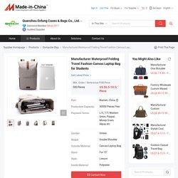 China Manufacturer Waterproof Folding Travel Fashion Canvas Laptop Bag for Students - China Laptop Bag, Computer Bag