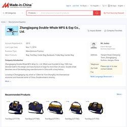 China Bag manufacturer, Tool Bag, Cooler Bag supplier - Zhangjiagang Double-Whale MFG & Exp Co., Ltd.