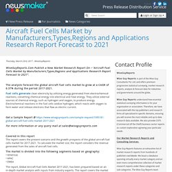 Aircraft Fuel Cells Market by Manufacturers,Types,Regions and Applications Research Report Forecast to 2021