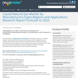 Liquid Natural Gas Market by Manufacturers,Types,Regions and Applications Research Report Forecast to 2022