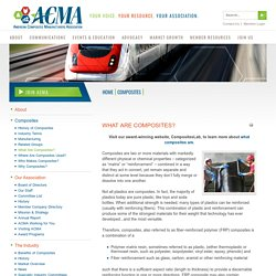 What Are Composites? - American Composites Manufacturers Association (ACMA)
