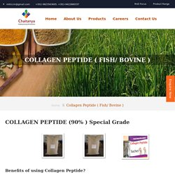 Collagen Peptides Manufacturers in India