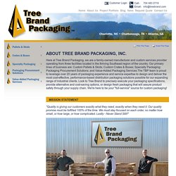 About Tree Brand Packaging - Charlotte, NC - Chattanooga, TN - Charleston, SC