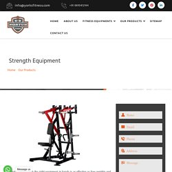 Strength Equipment Manufacturers, Commercial Strength Equipments