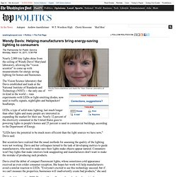 Wendy Davis: Helping manufacturers bring energy-saving lighting to consumers