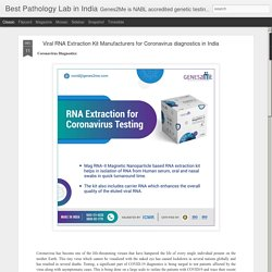 Viral RNA Extraction Kit Manufacturers for Coronavirus diagnostics in India