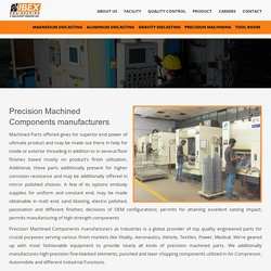 Precision Machined Components manufacturers - IBEX Engineering