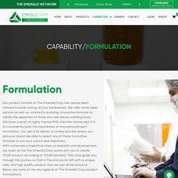 Formulation - Private Label CBD Suppliers