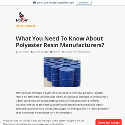 Do you need Polyester resin use for your industry?