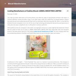 Leading Manufacturers of Cookies Biscuit: ANMOL INDUSTRIES LIMITED