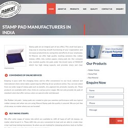 Stamp Pads Manufacturer & Supplier - Mascot Rubber Stamps