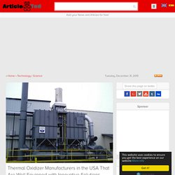 Thermal Oxidizer Manufacturers in the USA