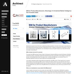 BIM for Product Manufacturers; Advantage of Unmatched Market Intelligence that Increases Sales