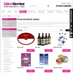 Food & Drinks Labels Printing from leading Manufacturers Labelservice