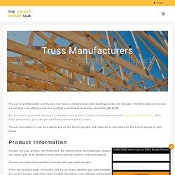 Trusses & Frames Manufacturers in Melbourne, Sydney, Perth - Owner Builder Club