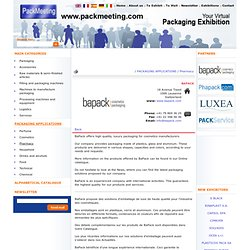 BAPACK - Pharmacy - Virtual exhibition for packaging manufacturers and suppliers – PackMeeting