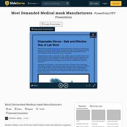 Most Demanded Medical mask Manufacturers