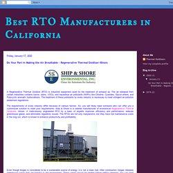 Regenerative Thermal Oxidizer Illinois