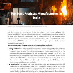 Top Steel Products Manufacturers In India