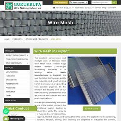 Wire Mesh Manufacturers in Gujarat, Wire Mesh Panels Suppliers, Exporters India