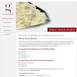 Manufactures of Wheat Flour