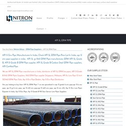API 5L ERW Pipe Manufacturers In India