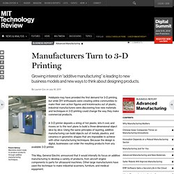 Manufacturers Turn to 3-D Printing