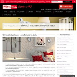 Wallpaper Manufacturers in Delhi, india Wallpaper Price in Delhi-Ultrawalls