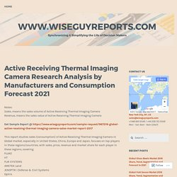 Active Receiving Thermal Imaging Camera Research Analysis by Manufacturers and Consumption Forecast 2021 – www.wiseguyreports.com