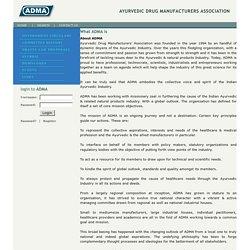 ADMA - Ayurvedic Drug Manufactures Association