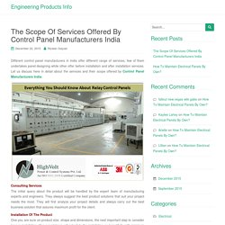 Control Panels Manufactures, Control Panels suppliers, Control Panels India