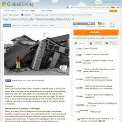 Typhoon-proof disaster relief housing manufacturin