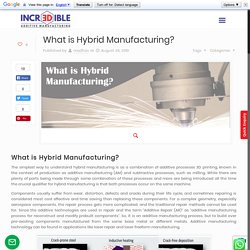 What is Hybrid Manufacturing?