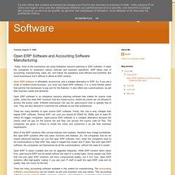 Open Source Manufacturing Software: Open ERP Software and Accounting Software Manufacturing