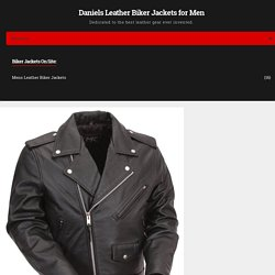 First Manufacturing Mens Classic Leather Biker Jacket