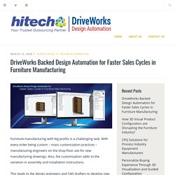 DriveWorks Backed Design Automation for Faster Sales Cycles in Furniture Manufacturing – DriveWorks: CAD Design Automation & Customization