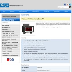 Digital Taximeters, Auto Rickshaw Meter Manufacturing Company- Sansui Electronics Pvt Ltd.