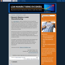 Barack Obama y Lean Manufacturing