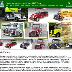 Golf Cart Manufacturing, Exporting Golf Cart Vehicles in Mumbai