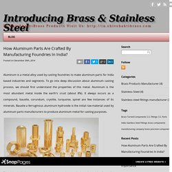- How Aluminum Parts Are Crafted By Manufacturing Foundries In India?