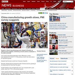 China manufacturing growth slows, PMI survey suggests