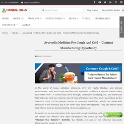 Ayurvedic Medicines For cough & cold - Contract Manufacturing