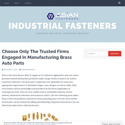 Brass turned parts quality control features